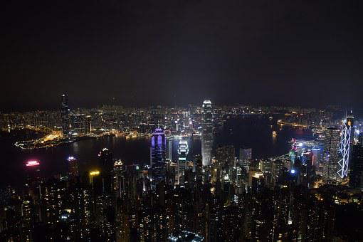 City View, Hong Kong, Architecture, Landscape, Night