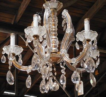 Glass, Chandelier, Lights, Lighting, Incandescent