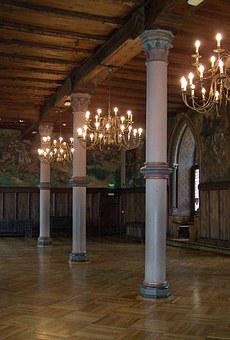 Ballroom, Hall, Rittersaal, Knight, Middle Ages