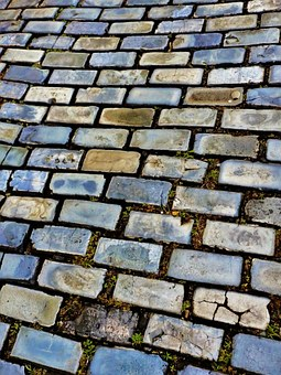 Floor, Bricks, Grey Bricks, Texture, Brick, Material