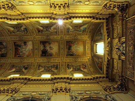 Basilica, Sant Andrea Della Valle, Rome, Italy, Ceiling