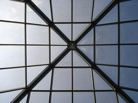Architecture, Ceiling, Windows, Pattern, Square