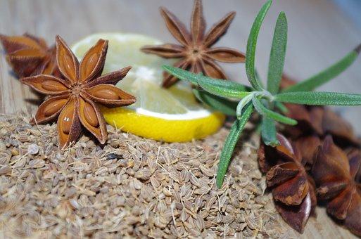 Star Anise, Anise, Rosemary, Lemon, Baking, Pepper