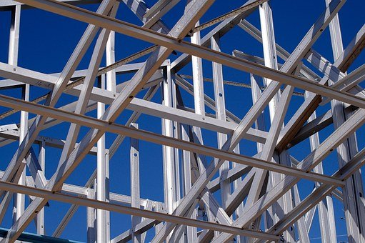 Steel Frame, Frame, Trestle, Skeleton, Geometric, Steel