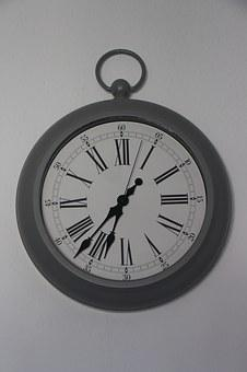 Clock, Time Of, Vintage, Time Indicating, Time, Antique