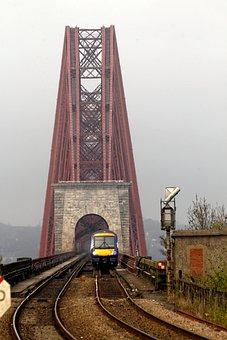 Bridge, Railway, Scotland, Forth, River, Train