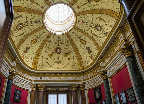 Uffizi, Museum, Florence, Italy, Architecture, Ceiling