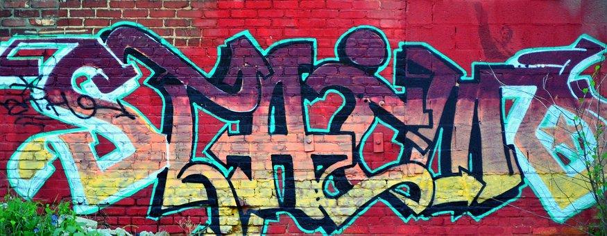 Urban, Graffiti, Grunge, Rebel, Artist, Colorful, Paint