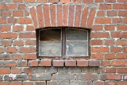 Wall, Window, Clinker, Building, Old, Facade