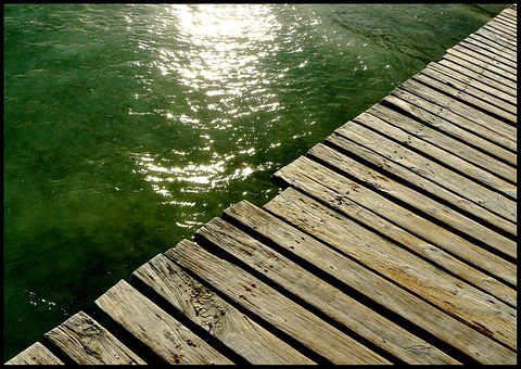 Web, Pier, Sea, Rest, Mirroring, Reflections, Water