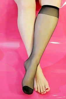 Woman, Act, Sexy, Erotic, Skin, Foot, Feet, Stocking