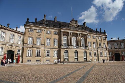 Amalienborg Palace, Copenhagen, Denmark, Market Square
