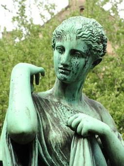 Artemis, Statue, University, Copenhagen, Botanical