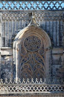 Portugal, Batalha, Tracery, Monument, Tourism