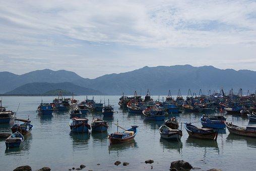 Boat, Nha Trang, Vietnam, Coastline, Tranquil, Bay