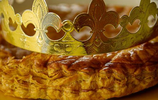 Galette Des Rois, Crown, Slab, Pastry, Epiphany