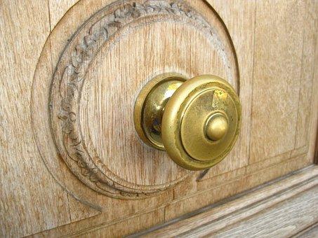Door Knob, Drawer, Button, Wood, Cabinet, Furniture
