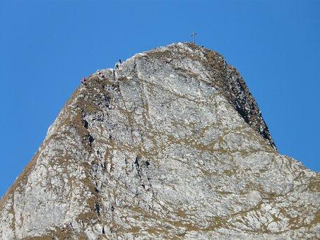 Höfats, Ridge, East Summit, Summit Cross, Mountains