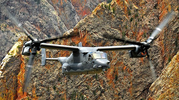 Helicopter, Osprey, Cv-22, New Mexico, Military, Flying