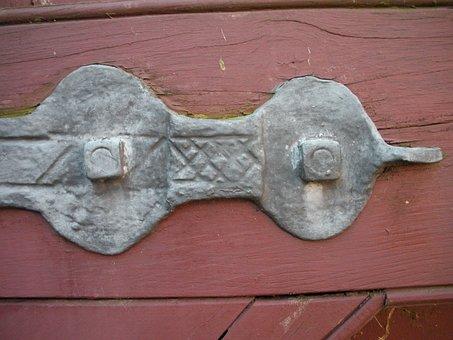 Port Bracket, Handmade, Pattern, Iron, Iron Nail, Old