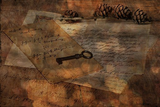 Letters, Old, Antique, Handwriting, Font, Key