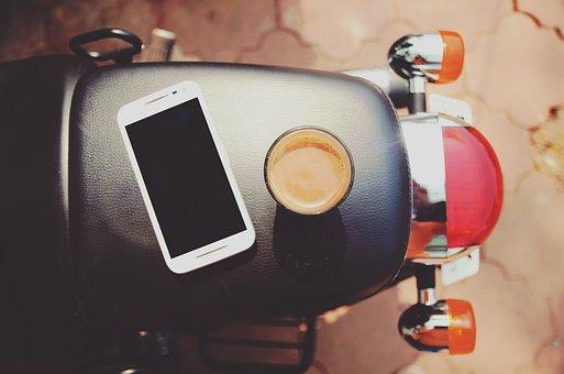 Beverage, Coffee, Electronics, Mobile Phone, Motorcycle