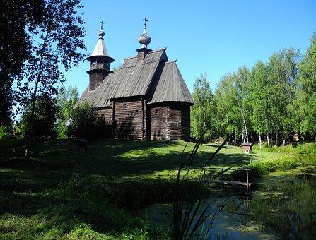 Russia, Kostroma, Sloboda, Wooden Architecture, Museum