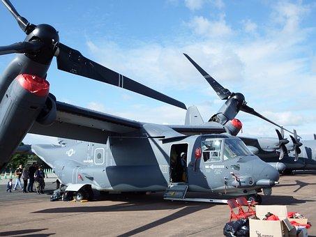 Tiltrotor, Aircraft, Osprey, Mv-22, Vertical