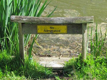 No Admittance, No Entry, Nature, Lake, Pond, Private