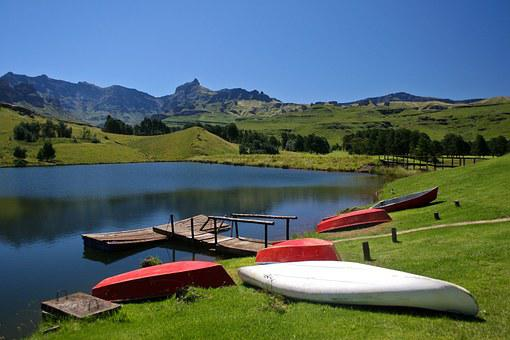 Drakensberg Mountains, South Africa, Lake, Old Jetty