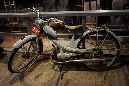 Moped, Nsu Quickli, Two Wheeled Vehicle, Old, Classic