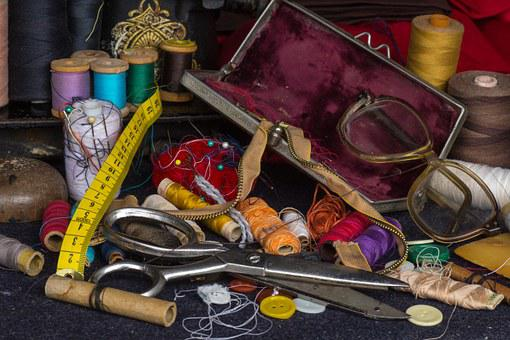 Still Life, Yarn, Buttons, Substances, Old