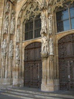 West Portal, Portal, Hauptprtal, Ulm Cathedral, Gothic