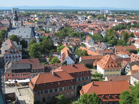 Speyer, Cathedral, View, Panorama, Roofs, Buildings