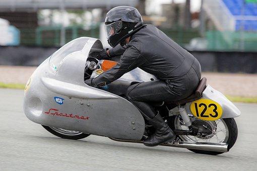 Nsu, Motorcycle, Racing, Sachsenring, Oldtimer