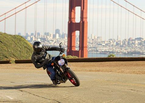 Motorcycle, Zero S Action, San Francisco, Stunt, Rider