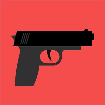 Weapon, Hand Gun, Short Weapon, Run, Mouth, Muzzle Fire