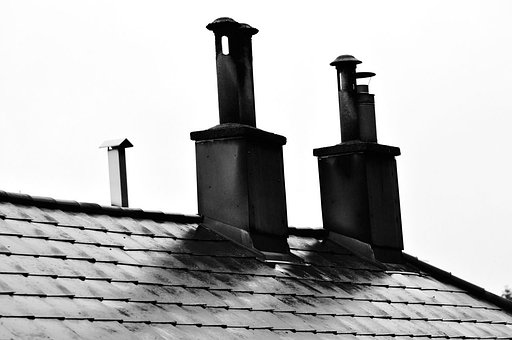 Chimney, Chimneys, Smoke Stack, Smoke Stacks, Roof