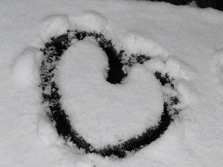 Heart, Snow, Snow Heart, Winter, Cold, Love, I Love You