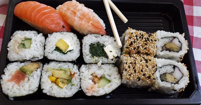 Sushi, Sushi Box, Asia, Fish, Rice, Food, Raw, Roll