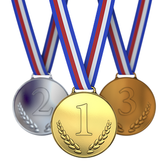 Medals, Winner, Runner-up, Third, Second, First, One