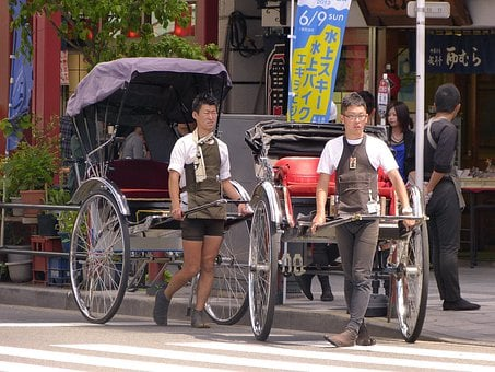 Japan, Tokyo, Asakusa, Jinrikisha, Rickshaw, Town