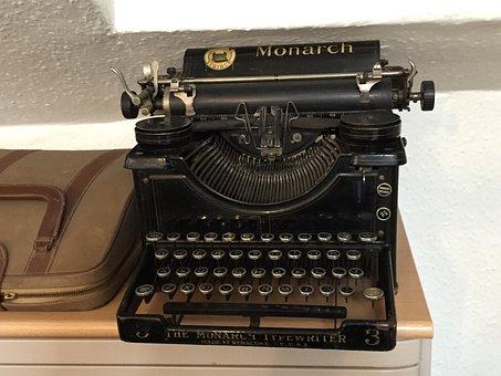 Typewriter, Old-fashioned, Old, Type, Retro, Vintage