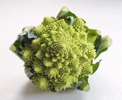 Romanesca Cauliflower, Vibrant Green, Unusual Vegetable