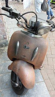 Roller, Rusty, Corrosion, Zero Bike, Vehicle, Weathered