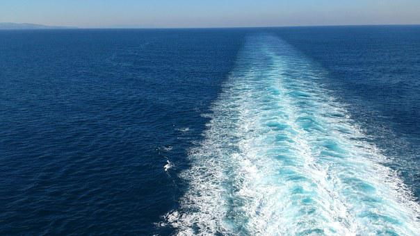 Sea, Ship, Ocean, Cruise Ship, On Lake, View, Away