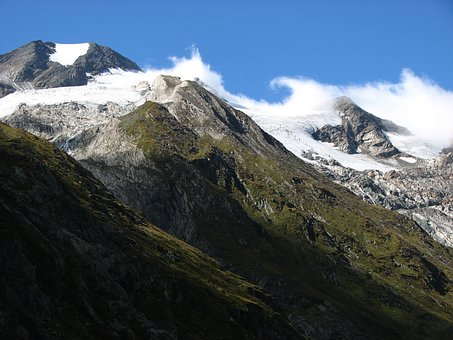 Mountain, Clouds, Summit, Alpine, Mountaineering