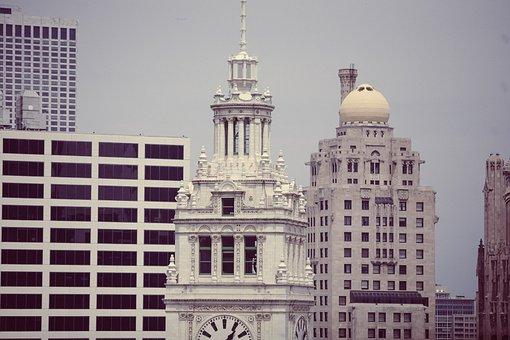 Wrigley Building, Chicago, Architecture, Skyline