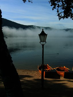 Boats, Lake, Black Forest, Titisee, Germany, Atmosphere