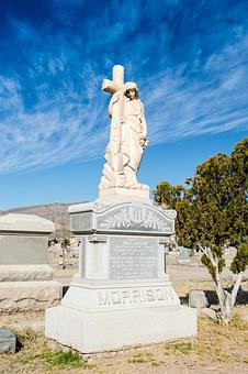 Concordia Cementary, Tomb, Angel, Blue Sky